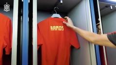 La selección española felicita a Sergio Ramos por su cumpleaños