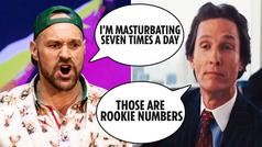 """Matthew McConaughey a Tyson Fury: """"Masturbarse siete veces al día es de novato"""""""