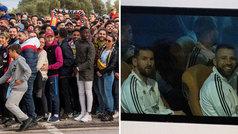 Locura en Mallorca para intentar ver el entrenamiento de Argentina