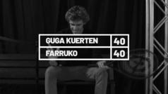 El ex tenista brasileño Gustavo Kuerten, 'Guga', habla con el cantante puertorriqueño Farruko