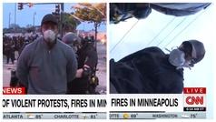 Un periodista y un cámara de la CNN son arrestados en plena conexión directo inexplicablemente