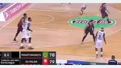 El tiro imaginario de Tyrese Rice para ganar al Armani Milán