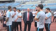 Benítez es presentado en China