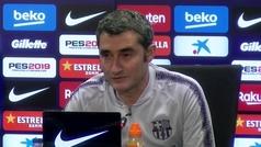 """Valverde: """"Ganar la Liga cuanto antes lo quiere cualquiera, pero a ver si somos capaces"""""""