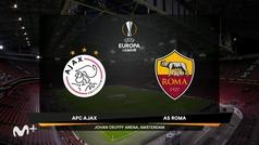 Uefa Europa League (ida cuartos de final): Resumen y goles del Ajax 1-2 Roma