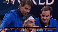 El 'coaching' de Nadal y Federer a Fognini en la Laver Cup