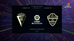 MX: LaLiga Santander (J37): Resumen y goles del Cádiz 1-3 Elche