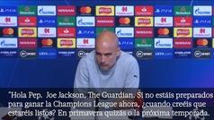 """Un periodista se 'cansa' del discurso de Champions de Guardiola: """"Cada año dices lo mismo..."""""""