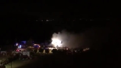 Arde la finca del torero Morante de la Puebla donde hicieron pintadas amenazantes