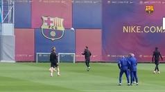 El tremendo 'que no caiga' en el entrenamiento: Messi, De Jong, Dembélé y Konrad