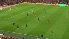 Gol de Mané (1-0) en el Liverpool 4-3 Salzburgo