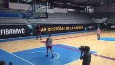 Pique de triples entre Jorge Garbajosa y Queralt Casas en el Mundial Femenino