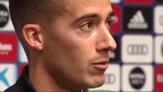"""Lucas Vázquez: """"No nos planteamos el futuro del entrenador"""""""