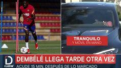Deportes Cuatro 'caza' a Dembélé llegando tarde de nuevo al entrenamiento