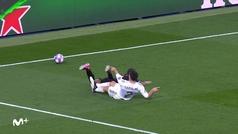Gol de Kevin De Bruyne (p.) (1-2) en el Real Madrid 1-2 Manchester City