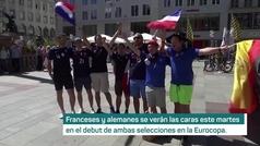Los aficionados ya vibran en Múnich antes del partidazo entre Alemania y Francia