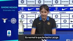"""Inzaghi: """"LaLiga ha hecho bien aplazando los partidos"""""""