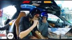 La hot-lap de Fernando Alonso y su novia en Monza