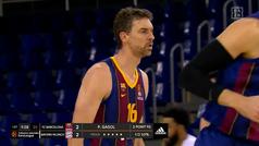 Un momento histórico para el baloncesto español: la primera canasta de Pau Gasol con el Barça