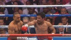 La rapidez de Pacquiao: así besó la lona Thurman en el primer asalto
