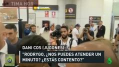 """Los divertidos gritos de una mujer a la llegada de Rodrygo a Madrid: """"Es Neymar"""""""