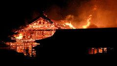 Arde un castillo japonés declarado Patrimonio de la Humanidad
