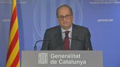 """Torra anuncia que si le inhabilitan: """"No seré yo quien condene a Cataluña a una carrera electoral"""""""