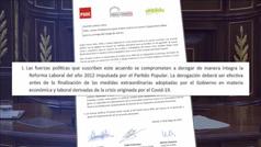 """El Gobierno pacta con Bildu la """"derogación íntegra"""" de la reforma laboral y lo matiza a medianoche"""