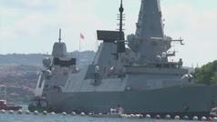 Un navío ruso dispara como advertencia contra un buque británico en el Mar Negro