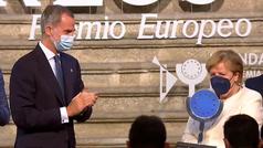 """Felipe VI asegura que Merkel pasará a """"la historia de la UE con mayúsculas"""""""