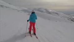 Un esquiador graba los misiles antiaéreos del Ejército israelí