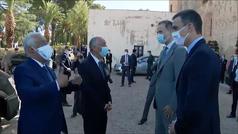 El rey preside en Badajoz la simbólica reapertura de la frontera con Portugal