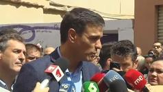 """Pedro Sánchez no ve """"ningún obstáculo real"""" para que Cs y PP se abstengan"""