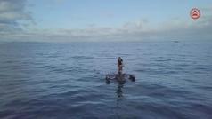 El ciclismo llega al agua con los trimaranes-bicicletas