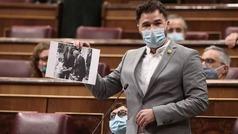 Rufián arremete contra el Rey en el Congreso