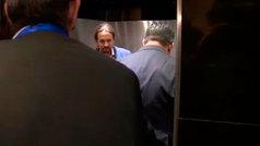 Iglesias y Abascal coinciden en el ascensor del Congreso