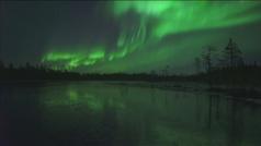 Las auroras boreales iluminan el cielo de Laponia