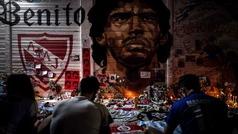 El mundo llora la muerte de Maradona