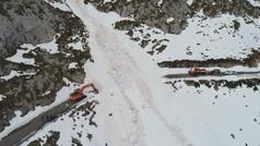 Impresionante alud en la localidad cántabra de Tresviso