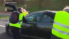 Así ha sido el atropello a un taxista en Madrid