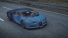 Un Bugatti Chiron con piezas de Lego y que se puede mover