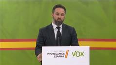"""Santiago Abascal pide la dimisión de Sánchez para instaurar un Gobierno de """"emergencia nacional""""."""