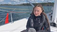 Greta Thunberg inicia su travesía en catamarán hacia Madrid