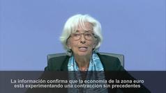 """BCE dice que la eurozona """"ha tocado fondo"""""""