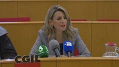 Yolanda Díaz: Quiero que Pedro Sánchez presida la reforma laboral