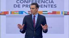 """Pedro Sánchez tranquiliza sobre los rebrotes: """"Hoy estamos muchísimo mejor preparados que en marzo"""""""