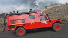 Velire, el vehículo de la UME para reconocimiento nuclear y químico que se está usando en La Palma