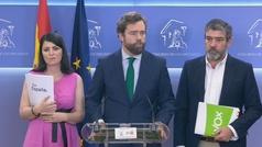 Vox renuncia a ocupar concejalías en el Ayuntamiento de Madrid