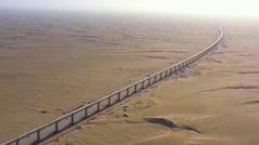 China avanza en la construcción del tren que recorre el desierto de Mongolia