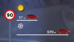 ¿Cómo se debe conducir cuando hay placas de hielo?